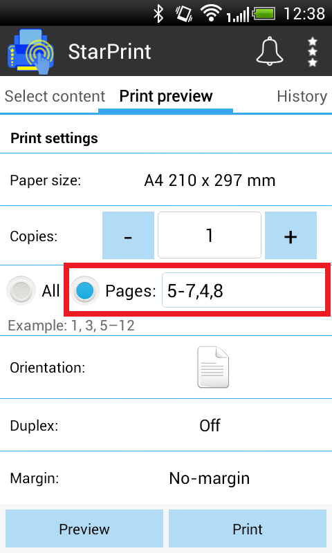 How to Use - Android Print