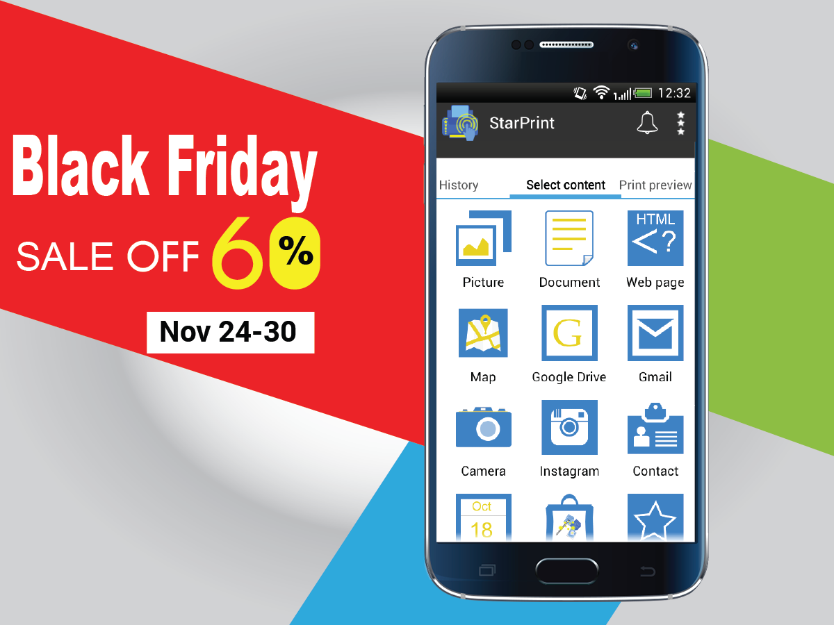 Black Friday Sale 2015 - Android Print App